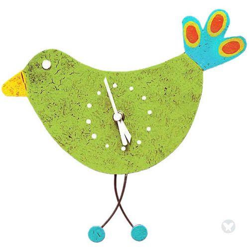 Reloj pajarito verde