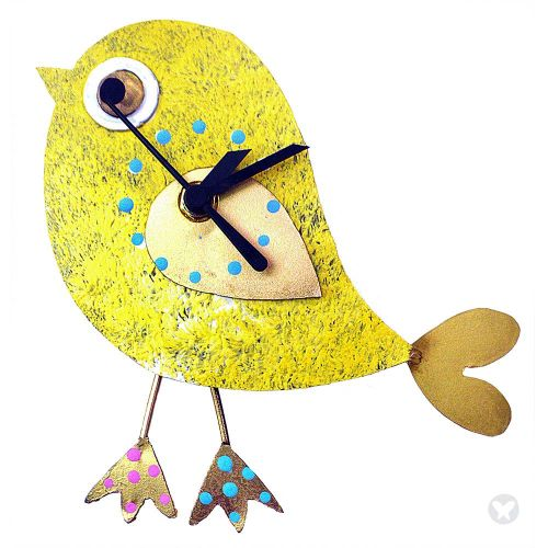 Reloj pajaro amarillo