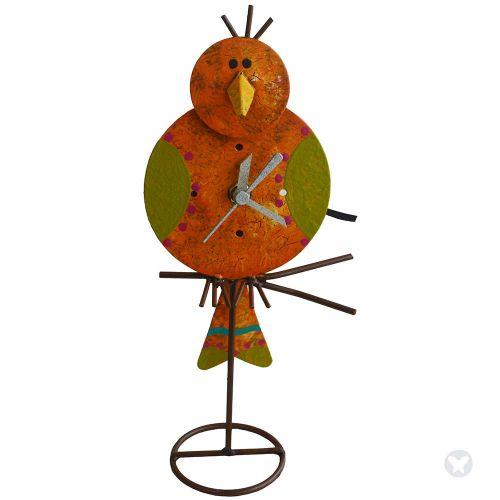 Reloj canario mesa naranja