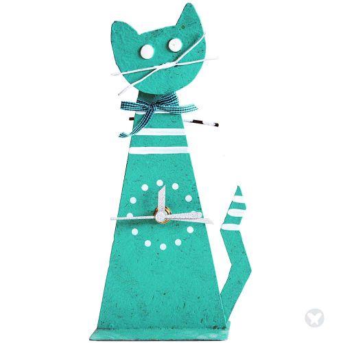 Reloj gato cinta aguamarina