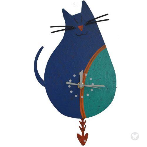 Reloj gato aguamarina