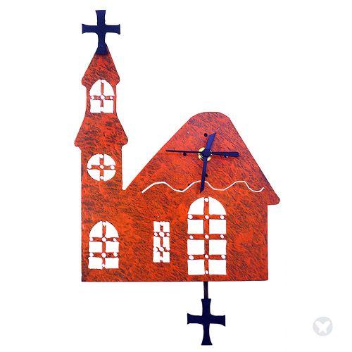 Reloj iglesia naranja