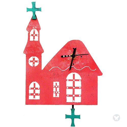 Reloj iglesia rosado