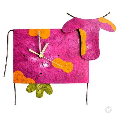 Reloj vaca fuccia