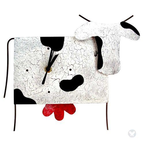Reloj vaca blanco