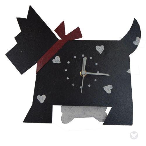 Reloj perro negro