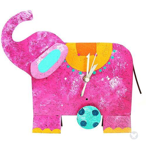 Reloj elefante mesa fuccia