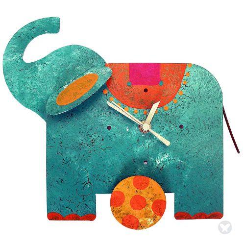 Reloj elefante mesa aguamarina