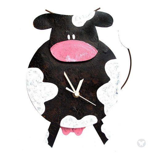 Reloj vaca gorda negro