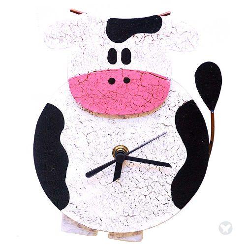 Reloj vaca gorda blanco