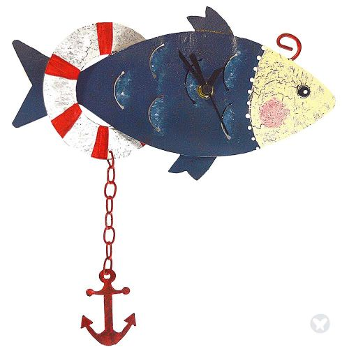 Reloj pez con ancla azul