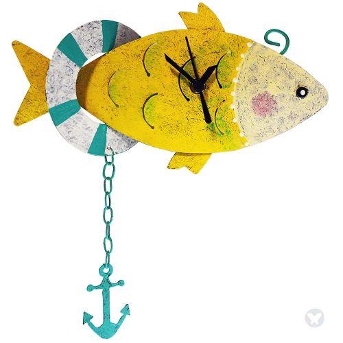 Reloj pez con ancla amarillo