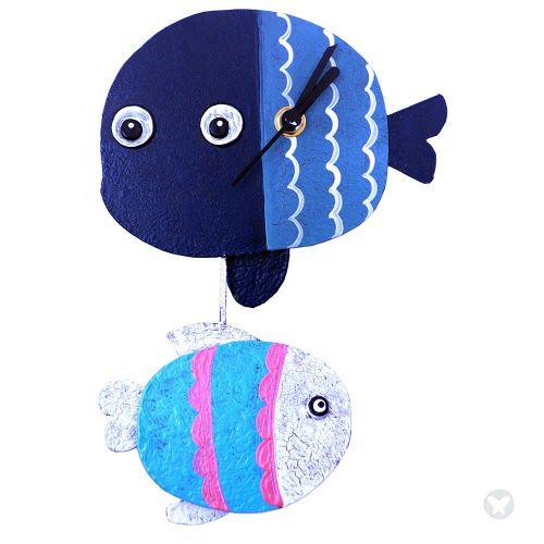 Reloj pez azul