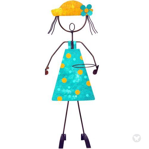 Óxidos Garden girl with hat. Set of 2