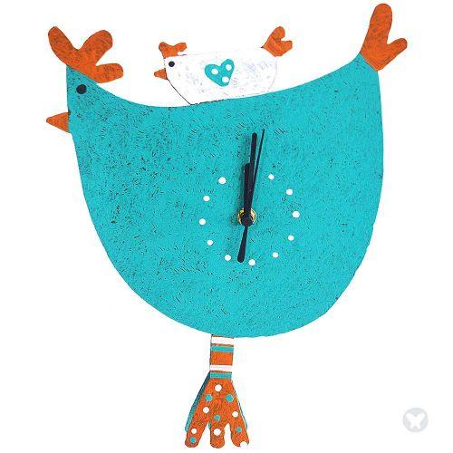 Reloj mama gallina aguamarina