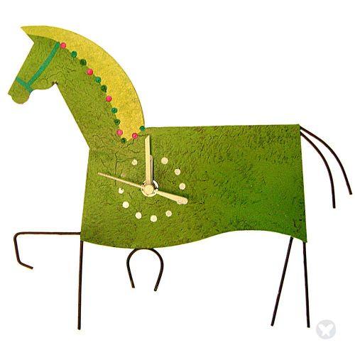 Reloj caballo verde