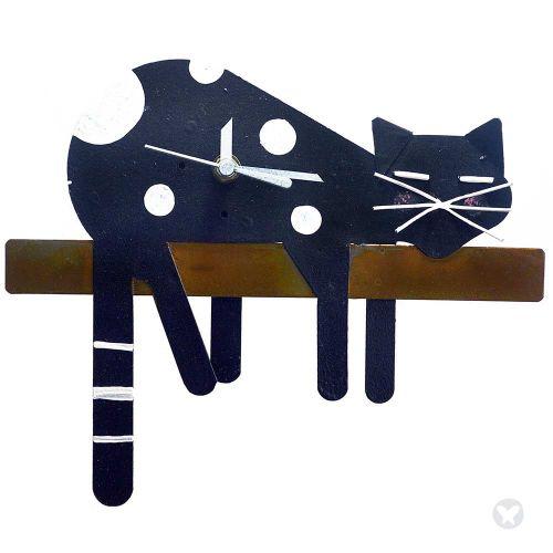 Reloj gato perezoso negro