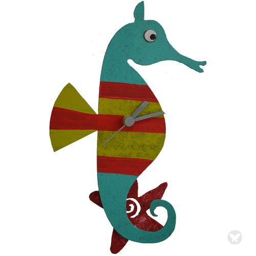 Reloj caballo de mar aguamarina