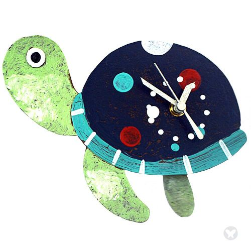 Reloj tortuga azul