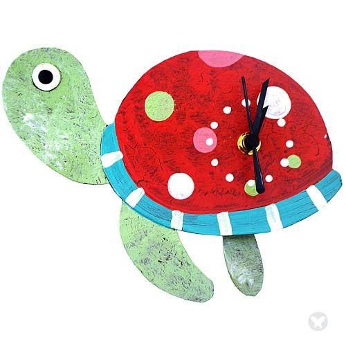 Reloj tortuga rojo