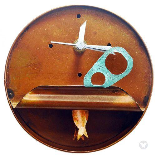 Reloj lata de atún naranja