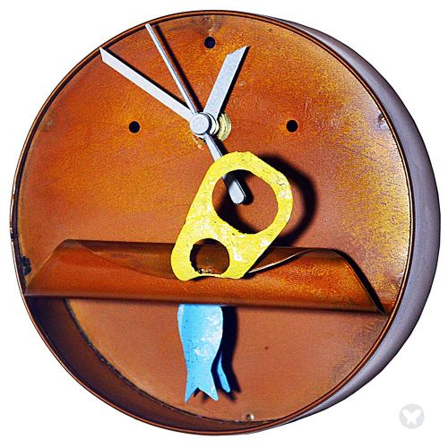Reloj lata de atún azul aguamarina